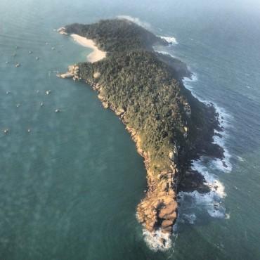 Visão aérea da Ilha do Campeche