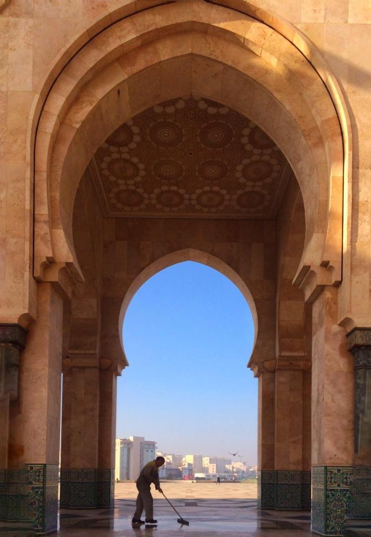 Mesquita Hassan II Mosque em Casablanca, Marrocos