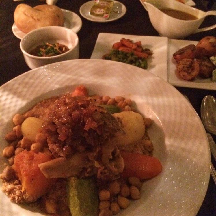 Couscous com lamb tajine no Ricks's Cafe em Casablanca, Marrocos