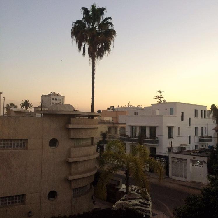 O Jnane Sherazade Riad fica em um bairro residencial de Casablanca, Marrocos