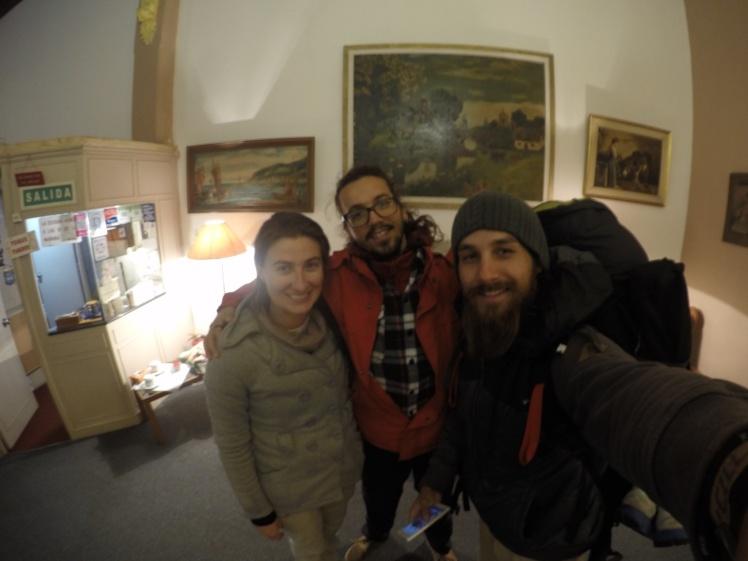 Greg & Nicole no hostel que iriam ficar em Montevideo