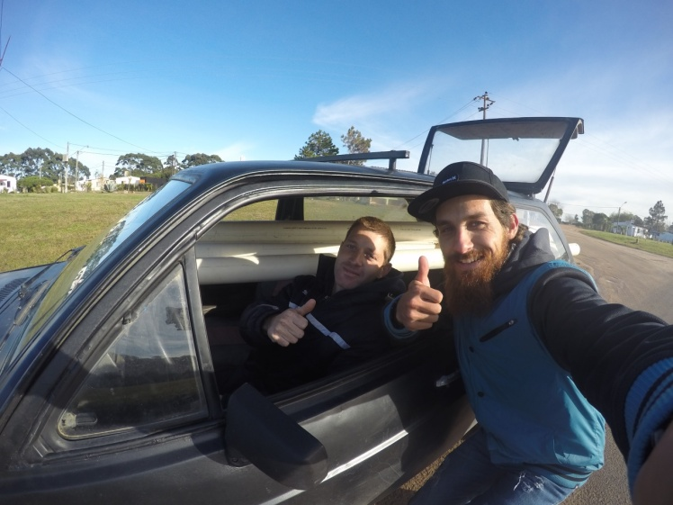 Selfie com Martinez – minha 1ª carona