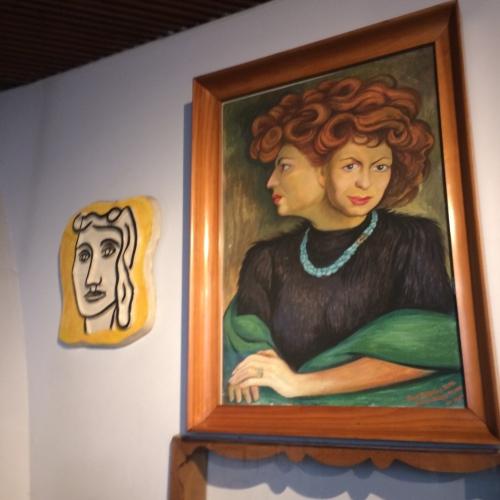 La Chascona em Santiago- Circuito Casas Museus de Pablo Neruda  - Pinturas de Matilda Urritia