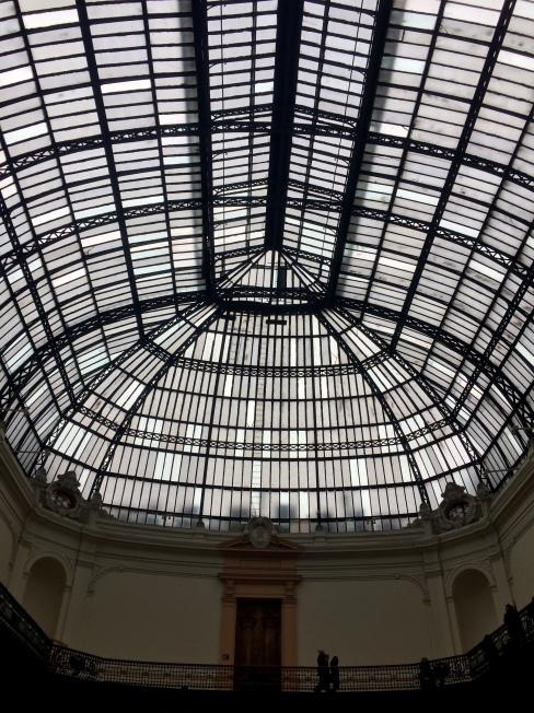 cúpula de vidro - Museu de Belas Artes - Santiago