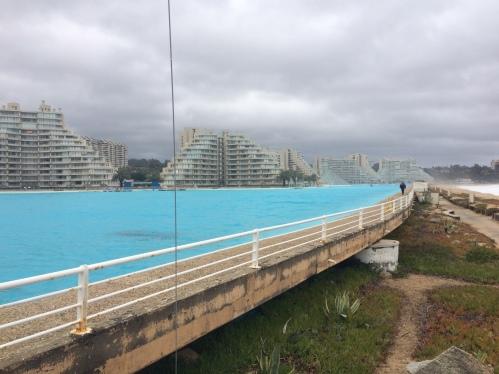 a maior piscina do mundo em Algarrobo - Chile