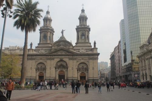 Plaza das Armas e sua imponente Catedral - Santiago / Chile