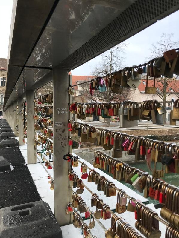 Mesarski Most, Butchers Bridge ou Ponte dos Açougueiros em Liubliana, Eslovênia