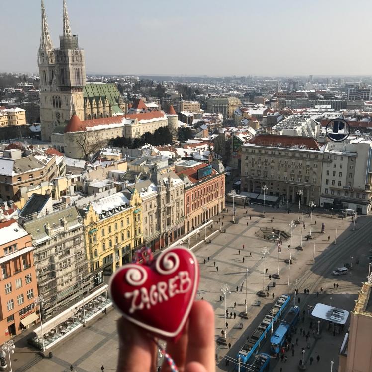 Observatório Deck 360º de Zagreb de dia. Vale Muito a Pena!!!!