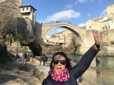Rio Neretva e a Old Bridge de Mostar - Bosnia Herzegovina