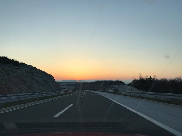 Estrada de Mostar para Split, é otima!