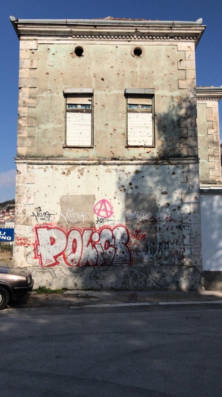 Marcas da Guerra em Mostar - Bosnia Herzegovina
