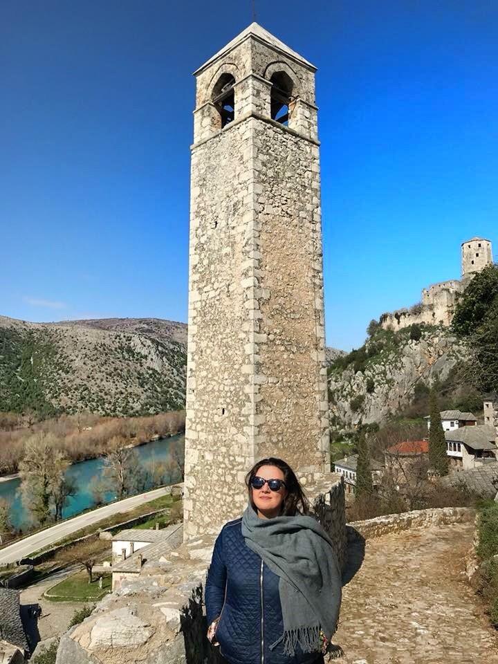 Sahat Kula ou Torre do Relogio em Pocitelj - Bosnia Herzegovina