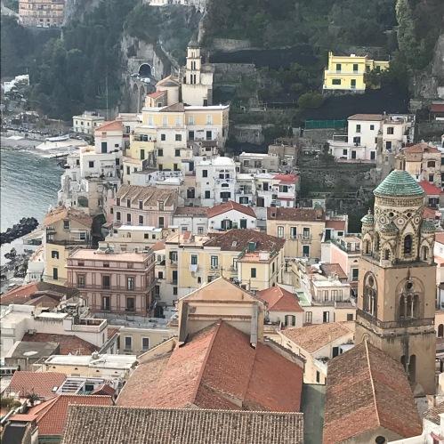 Vista que tivemos do Elevador na Piazza Municipio em Amalfi