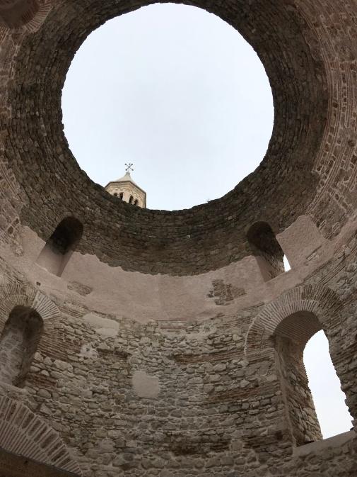 Vestíbulo no Palacio Diocleciano - Foto Autoral